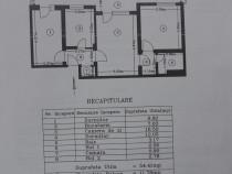 Apartament 3 camere C , confort 1 , semidec banat