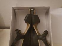 Sandale bleumarin dama, din piele marca BATA, marimea 40