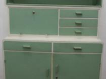 Bufet Vintage Lemn Masiv; Dulap cu sertare si rafturi;