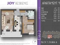 Apartament 2 camere, decomandat, 61 mp Dimitrie Leonida