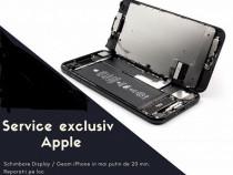 Schimbare sticla iphone 8 alb si negru - montaj in 20 min