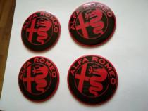 Set Embleme roți Alfa Romeo diametrul 56 mm