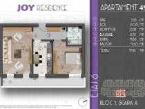 Apartament 2 camere, decomandat, 59 mp, metrou central