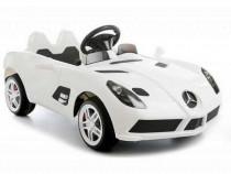 Masina electrica Mercedes SLR 2x35W 12V Roti Eva, cheie #ALB
