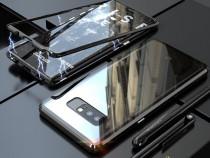 Samsung Note 8 - Husa Magnetica Spate Din Sticla si Rama Met