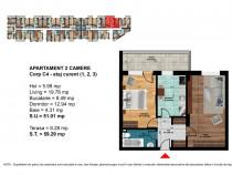 "Apartament 2 camere, nou, credit ""Prima Casa"" Central"