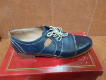 Pantofi office albastri din piele