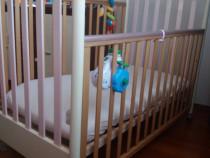 Patut de bebe Pali si masa de infasat cu cadita