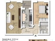 Apartament 2 camere decomandat central