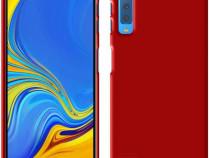 Samsung A7 2018 - Husa Ultra Slim Din Silicon Rosie / Albast