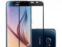 Samsung S7 - Pachet Husa Silicon Clara/Neagra + Folie Sticla