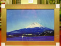 Tablou pictat manual pe panza in ulei , Peisaj cu Munte A-39
