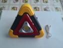 Triunghi reflectorizant 3in1 lanterna, baterie solara, triun