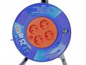 Prelungitor rola 25 metri cu 4 prize cablu 3×1.5 mm