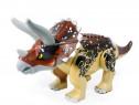 Dinozaur urias tip Lego de 30 cm: Triceratops