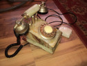 Telefon fix cu disc vintage din onix,onyx (piatra pretioasa)