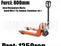 Transpalet Profesional Manual Furci Scurte 800mm 80cm 2500kg