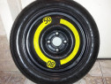 Roata Rezerva Slim 14 VW 4x100 Volkswagen Up, Polo, Golf 3