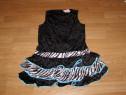 Costum serbare rochie dans tigru pentru copii de 8-9-10 ani