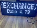 Reclame luminose afisaj led schimb valutar