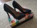 Pantofi negri, piele naturala, noi, marca HotStepper