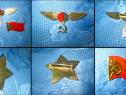 4215-I-Set 3 Insigne USSR-URSS-Mihail Gorbaciov Congres.