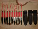 9 cutite pt. aruncat shuriken kunai