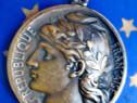 B198- Medalie Posta si Telegraf Amedee Breteau 1906 bronz.