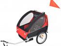 Remorcă de bicicletă pentru copii, roșu și 91371
