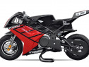 Motocicleta electrica pocketbike nitro eco tribo 1060w #red
