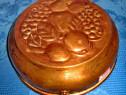 4110- Forma de prajituri din cupru model cu fructe.