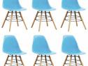 Scaune de bucătărie, 6 buc., albastru, plastic 248267