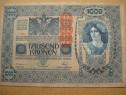 B289-I-Bancnota 1000 koroane Austro-Ungaria 1902 stampila...