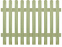 Gard din țăruși, 170 x 120 cm 6/9 cm, lemn 43576