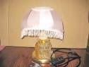 5989-Lampa picior sticla abajur mijloc onix cu culori schimb