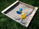 Lada de nisip din lemn pentru copii