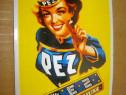 B614-Reclama Pez Peppermint retro vintage metal color.