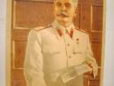 B625-Stalin la biroul de lucru-Lito veche propaganda.