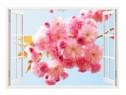 Sticker Decorativ, Fereastra 3D, Flori, 85 Cm, 306STK