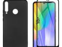Huawei Y6P Y5P - Husa Din Silicon + Folie Sticla Curbata 11D