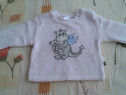 Bluza groasa crem cu dinozaur - 56