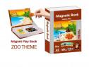 Joc educativ Carte magnetica cu piese puzzle Magnetic Book