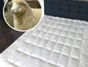 Protecție de pat 100% natural, umplutură de lână