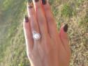 Inel argint perlă