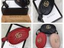 Genți mini/borsete Gucci logo auriu,lanț si curea detasabil