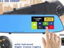 Oglinda cu camera DVR fata / spate cu touchscreen