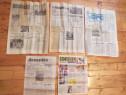 Colectie 7 ziare vechi:Scanteia,Sport Popular,Tara,Secera Ci