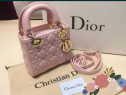 Genți firma model mini roz prăfuit accesorii metalice aurii