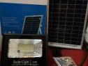 Proiector led 25w cu acumulator si panou solar telecomanda