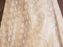 Fusta din piele naturala imprimeu sarpe